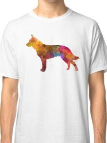 Australian Cattle Dog in watercolor Classic T-Shirt