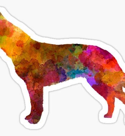 Australian Cattle Dog in watercolor Sticker