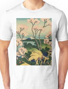 Hokusai Katsushika - Goten-yama-hill, Shinagawa on the Tokaido Unisex T-Shirt