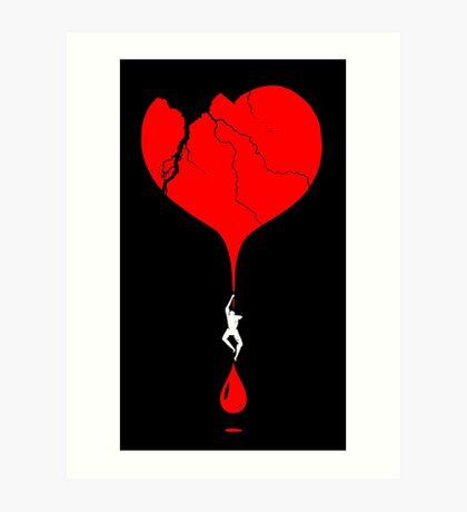 heart climber Art Print