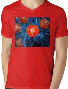 orange Mens V-Neck T-Shirt