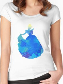 Princess Inspired Silhouette Women's Fitted Scoop T-Shirt