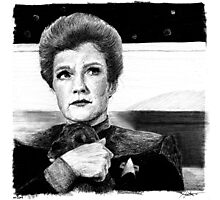 Captain Janeway...AND A PUPPY! Photographic Print