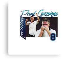Paul Gascoigne 90s Tee Canvas Print