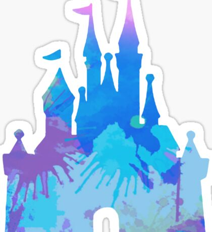 Castle inspired silhouette Sticker