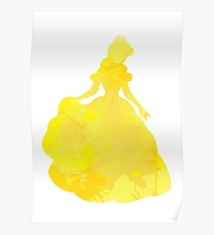 Princess Inspired Silhouette Poster