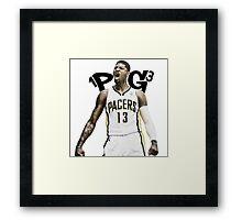 "Paul George ""PG-13"" Framed Print"