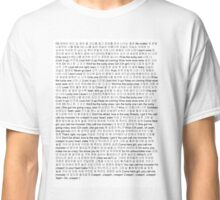 Every Lucky One and Monster EXO Lyric Classic T-Shirt