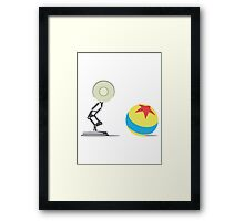 Desk Lamp and Ball  Framed Print