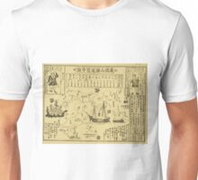 Anonymous - Map of the World - Circa 1875 - Woodcut Unisex T-Shirt