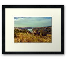 Stones Over The River Framed Print