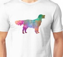 Flat Coated Retriever in watercolor Unisex T-Shirt