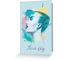 Think big! Hand-painted portrait of a woman in watercolor. Greeting Card