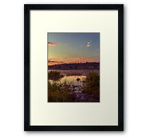 Evening On The Quiet River Framed Print
