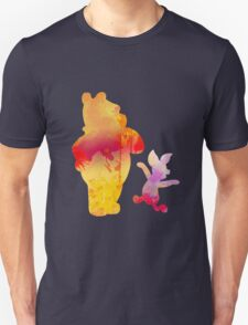 Bear and Pig Inspired Silhouette Unisex T-Shirt