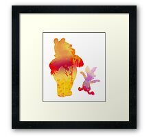 Bear and Pig Inspired Silhouette Framed Print