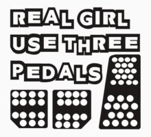 real girl use three pedals One Piece - Long Sleeve