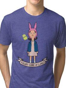 Stranger Belchers - Fight Like a Girl Tri-blend T-Shirt