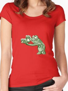 Frog photographer Women's Fitted Scoop T-Shirt