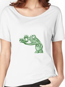 Frog photographer Women's Relaxed Fit T-Shirt