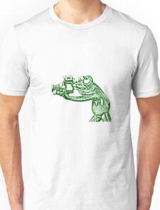Frog photographer Unisex T-Shirt