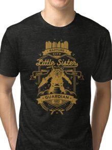 Little Sister Protector Gold Tri-blend T-Shirt