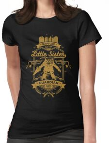 Little Sister Protector Gold Womens Fitted T-Shirt