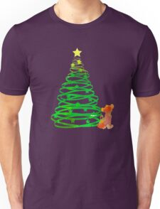 Christmas Lion Cub Inspired Silhouette Unisex T-Shirt