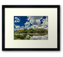 Clouds Over The River Framed Print