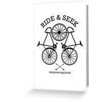 Ride and Seek Greeting Card