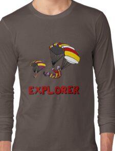 the Real EXPLORER shirt - Dustin's Explorer shirt in Stranger Things Long Sleeve T-Shirt