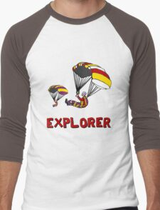 the Real EXPLORER shirt - Dustin's Explorer shirt in Stranger Things Men's Baseball ¾ T-Shirt