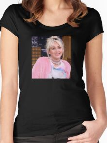 Miley Cyrus - jimmy fallon 2016 Women's Fitted Scoop T-Shirt
