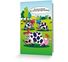 Cow Chat Greeting Card