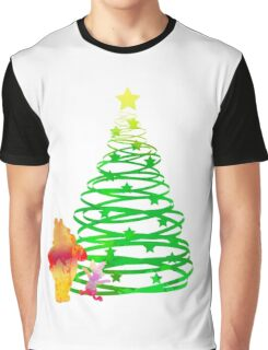 Christmas Bear and Pig Inspired Silhouette Graphic T-Shirt
