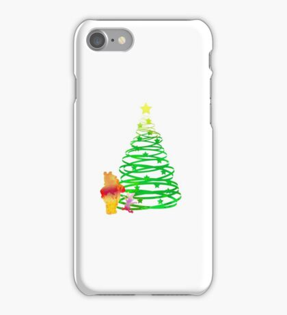 Christmas Bear and Pig Inspired Silhouette iPhone Case/Skin