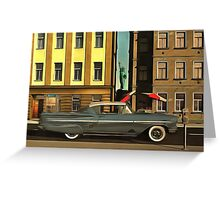 Chevrolette Impala at the Big Apple Greeting Card