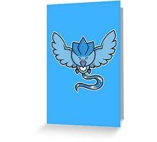 Super Cute Legendary Bird - Team Blue Greeting Card