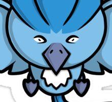Super Cute Legendary Bird - Team Blue Sticker
