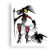 follow crow 2 Canvas Print