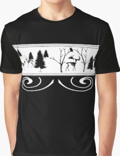 Scary Winter Scenery Graphic T-Shirt
