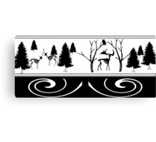 Scary Winter Scenery Canvas Print