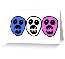 Trans colours Boosh heads Greeting Card