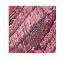 Pink Wood Art Print