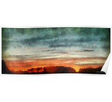 Maine Sunset Poster