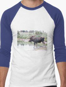 Thirsty moose a Thursday morning Men's Baseball ¾ T-Shirt