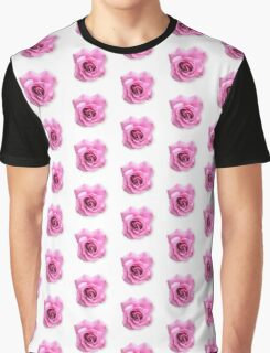 Pink Flower Pattern Graphic T-Shirt