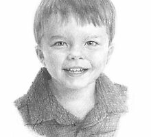 little boy drawing by Mike Theuer