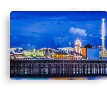 Palace Pier illuminations Canvas Print