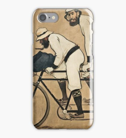 Ramon Casas - Ramon Casas and Pere Romeu on a Tandem (1897)  iPhone Case/Skin